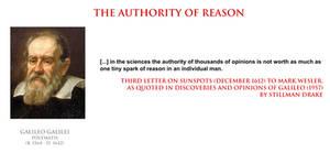 Galileo Galilei - the authority of reason