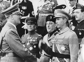 Hitler with Japanese, Italian, Spanish officers by YamaLlama1986