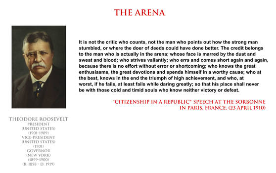 Theodore Roosevelt - the arena