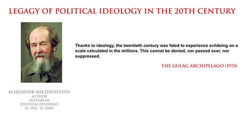 Aleksandr Solzhenitsyn - ideology in 20th century