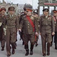 Zhukov and Montgomery in Berlin July 1945 by YamaLlama1986
