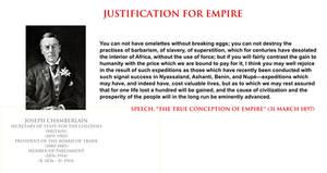 Joseph Chamberlain - justification for empire