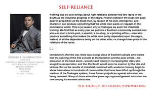 Booker T Washington - self-reliance by YamaLlama1986
