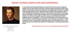 Niccolo Machiavelli - good and bad Roman Emperors
