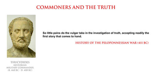 Thucydides - commoners and the truth