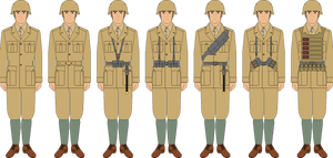 Italian soldier M40 khaki template examples