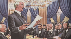 Woodrow Wilson at Paris Peace Conference, 1919 by YamaLlama1986