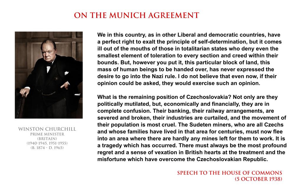 Winston Churchill On The Munich Agreement By Yamalama1986 On