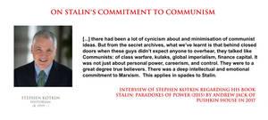 Stephen Kotkin - Stalin's commitment to communism