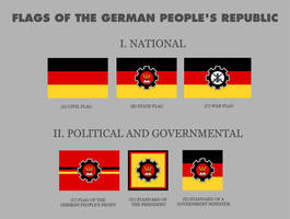 Flags of the German People's Republic (alt hist) by YamaLlama1986
