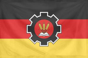 Rippled Flag Germany State (communist, alt hist) by YamaLlama1986