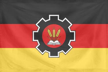 Rippled Flag Germany State (communist, alt hist)