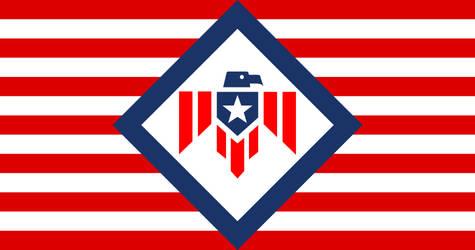 Flag American Union (alt hist fascist USA) by YamaLlama1986