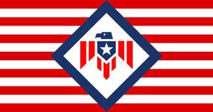 Flag American Union (alt hist fascist USA)