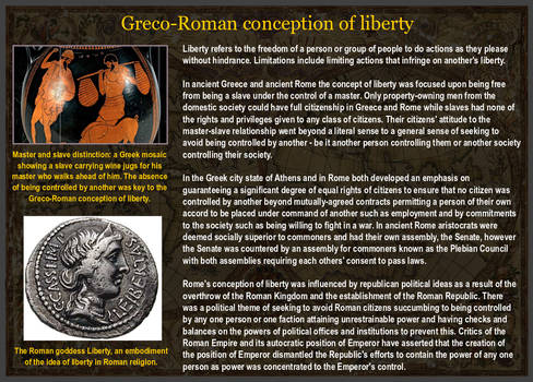 Greco-Roman conception of liberty