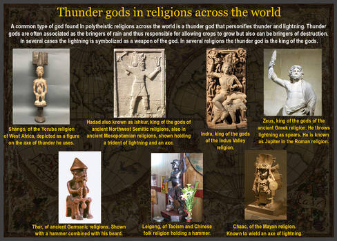 Thunder gods in religions across the world by YamaLlama1986