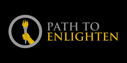 PathtoEnlighten logo with text black background