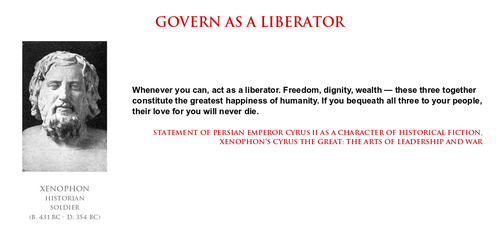 Xenophon - govern as a liberator by PathtoEnlighten