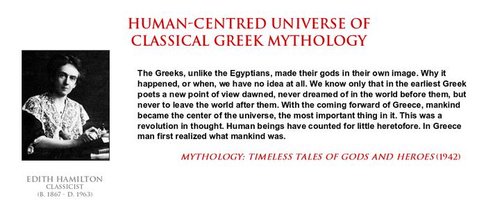 Edith Hamilton - human-centred Greek mythology