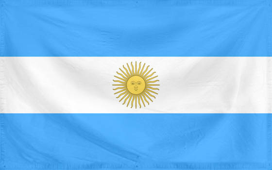 Rippled Flag Argentina
