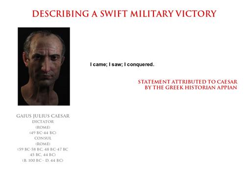 Julius Caesar - a swift military victory
