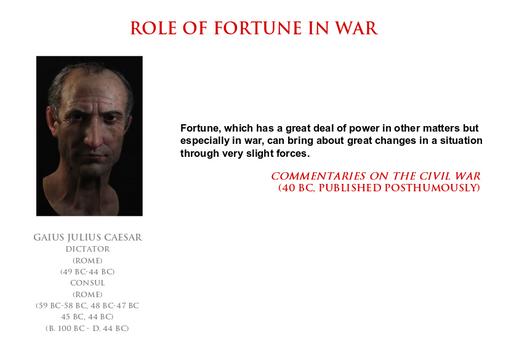 Julius Caesar - role of fortune in war