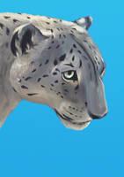 Snow Leopard - Blue by MissMondayMorning