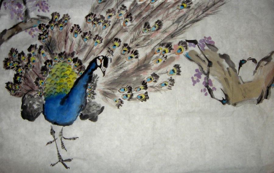 Peacock:Chinese Brush Painting