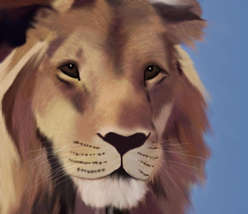 Lion Face by phoenixfyre6967