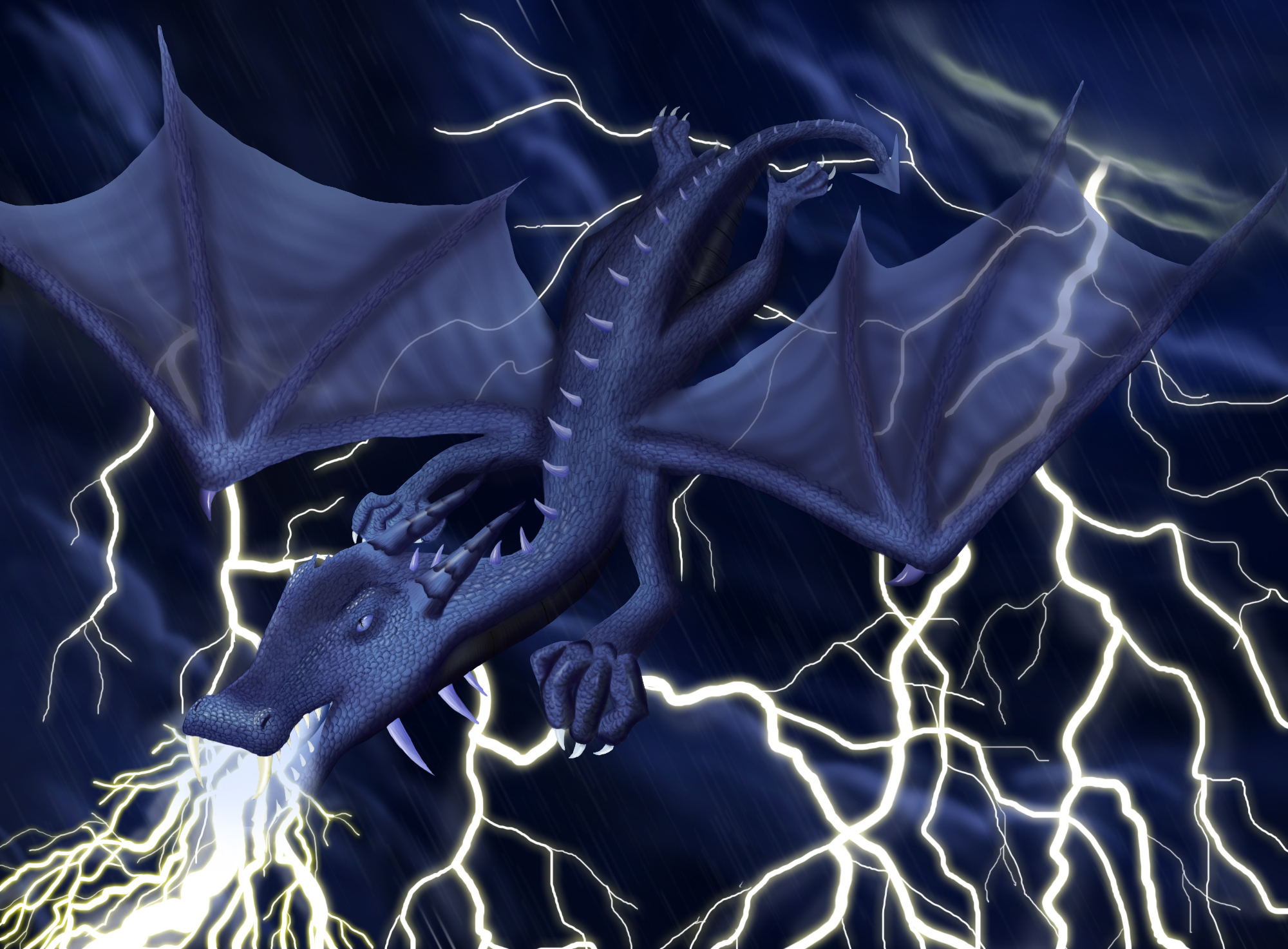 Lightning Dragon by phoenixfyre6967