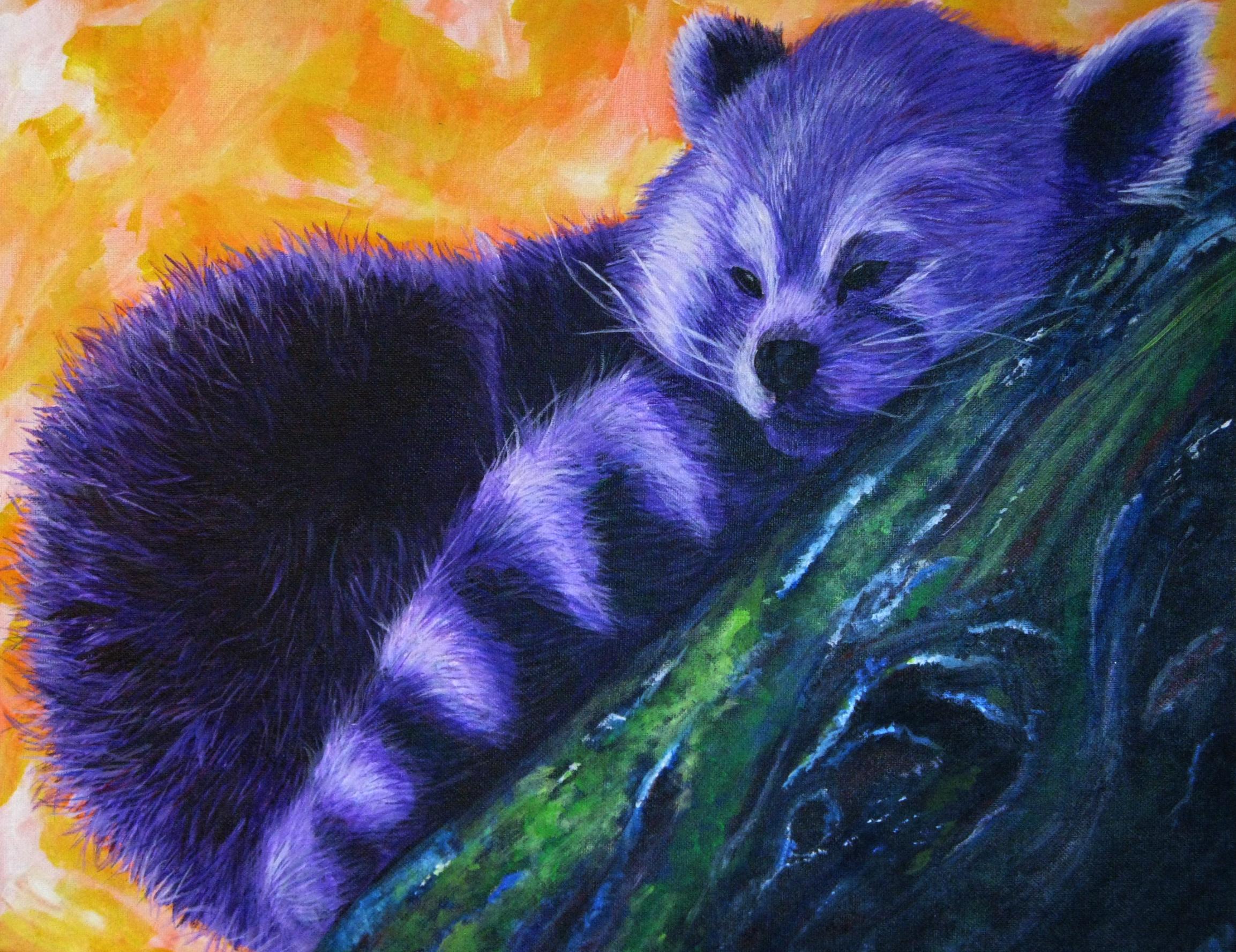 Purple Red Panda by phoenixfyre6967