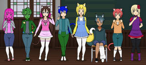 High School GC Characters in Kisekae-Part 3