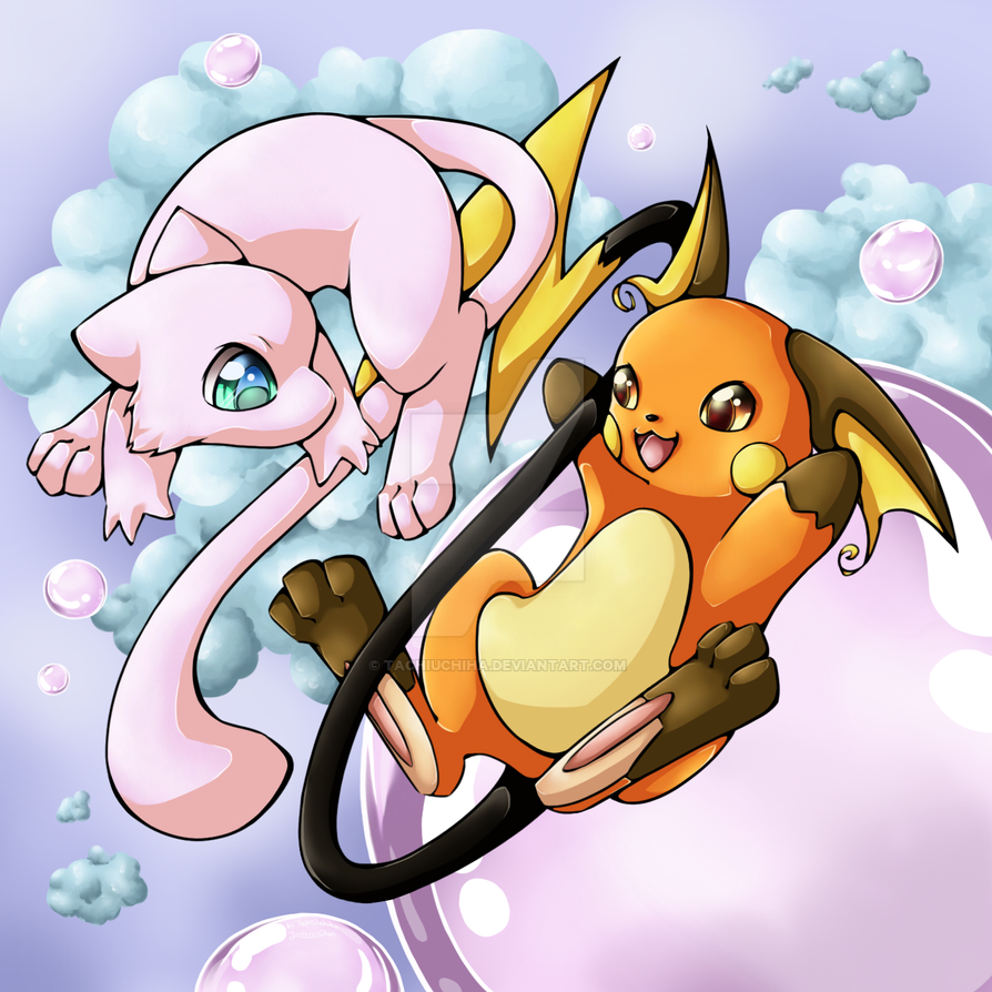 Mew and Raichu by TachiUchiha