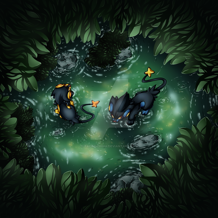 Luxray in the forest by TachiUchiha
