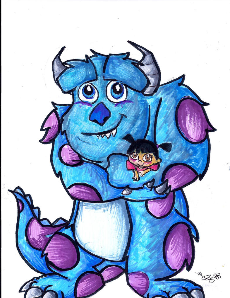 Sully Drawing Monsters Inc 6634 Loadtve