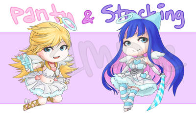 Panty and Stocking Keychains by LadyRawr