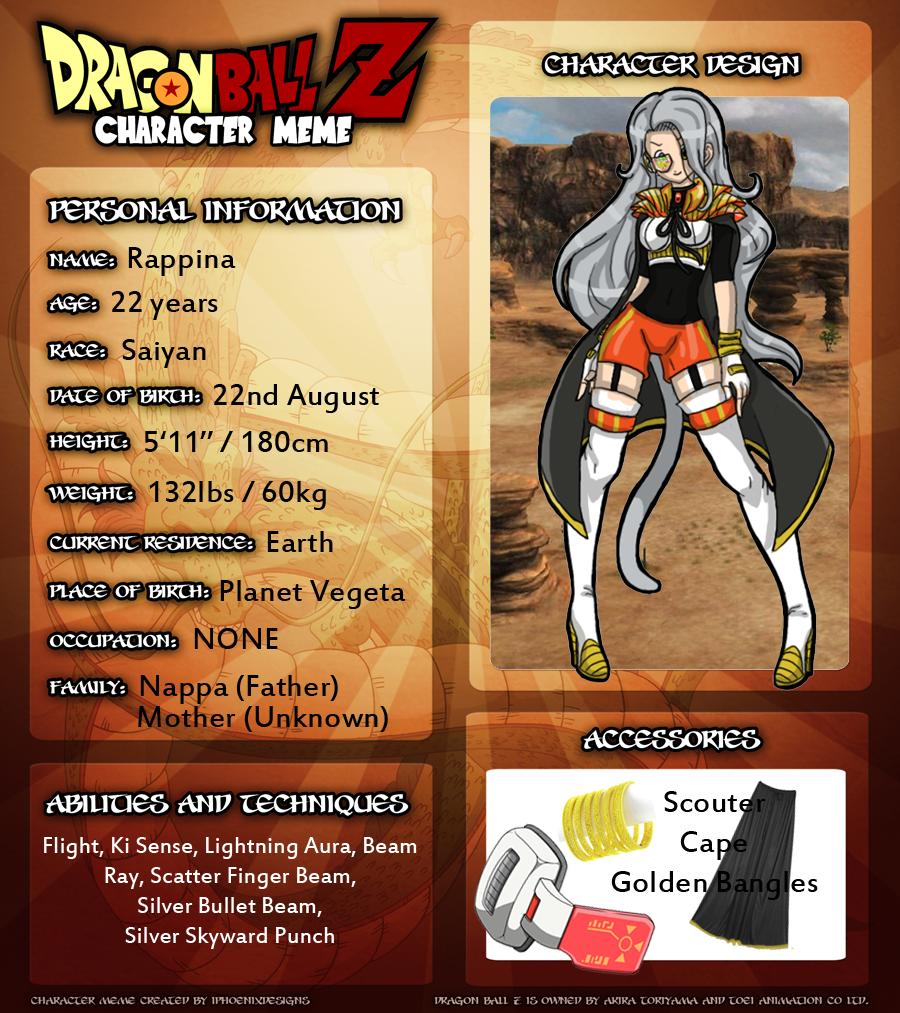 Dragonball Z Oc Rappina By Whatthefoxbecca On Deviantart