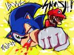 Sonic gets sense beat into him