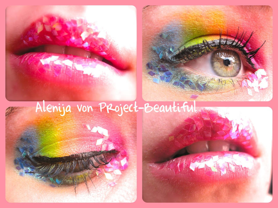 Rainbow Candy Wallpaper Rainbow Eyes And Candy Lips by