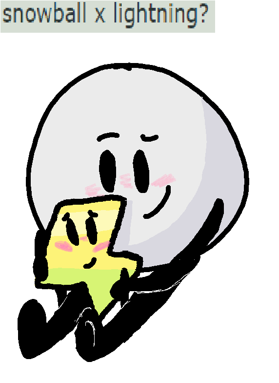 Bfb Ships (Snowball x Lightning) by RainPaintsPictures on