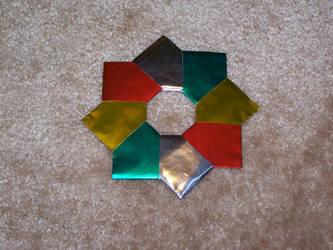 Origami Wreath by Lorienwoods