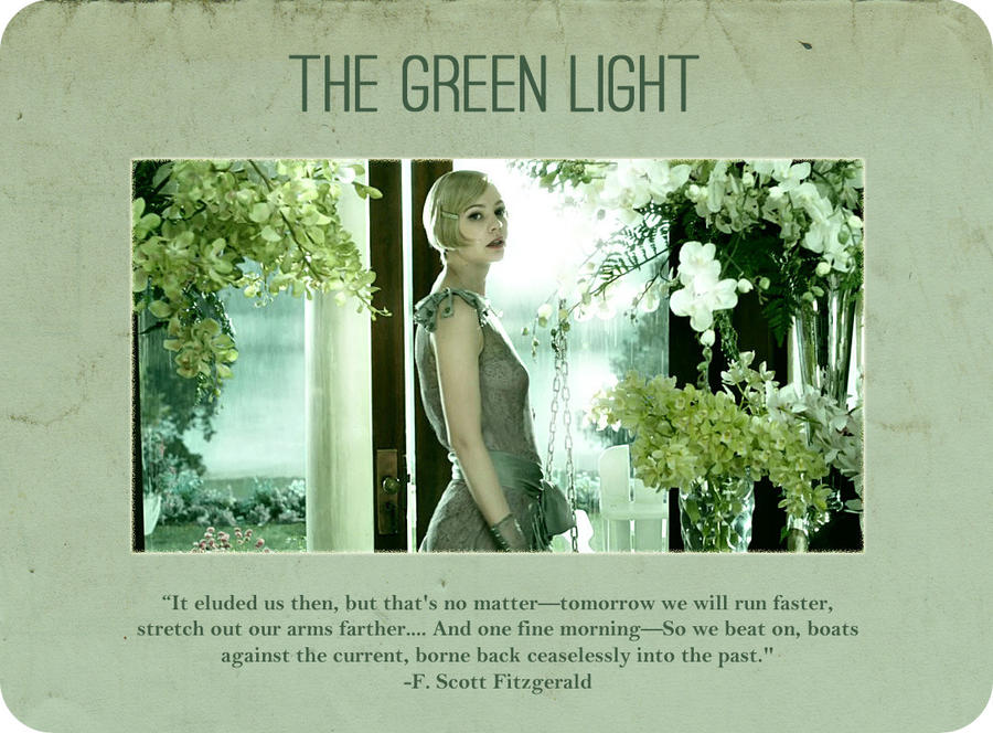 symbolism of the green light in the great gatsby essays Great gatsby essay example: symbols in life and the the most important of these symbols are the eyes of doctor eckleburg and the green light at the end of daisy.