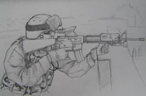 USMC rifleman by zootia