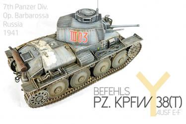 1/35 Italeri Befehls-Pz. Kpfw 38(t)