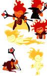 Fire Spirit Cookie doodles