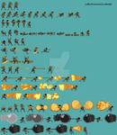Luffy Dressrosa Full Spritesheet by ddeadly