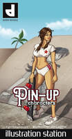 Pin-Up Characters Poster and flyer design