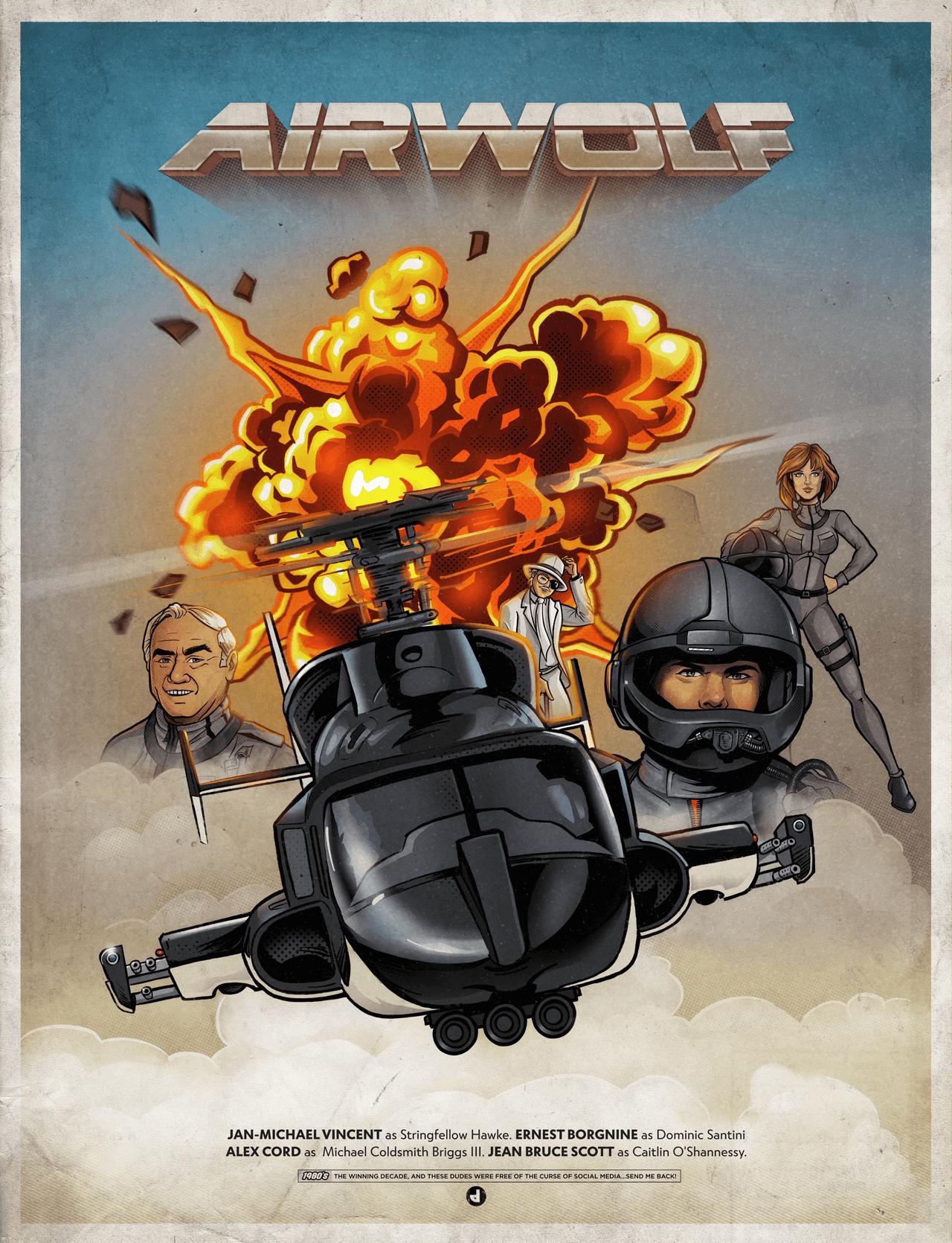 Airworlf Illustrated Poster
