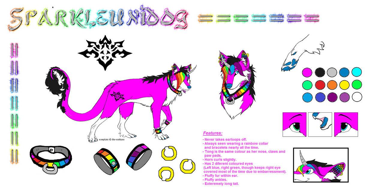 Sparkleunidog Reference Sheet (Ver.1)