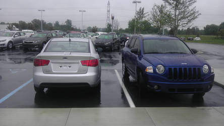 New  car and old car